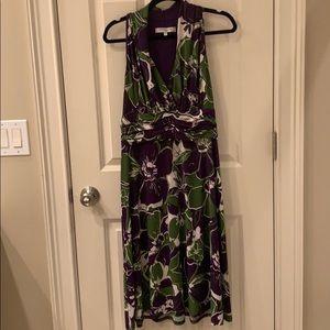 Purple green floral dress